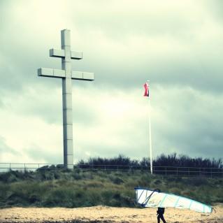 windsurf plage débarquement photographie