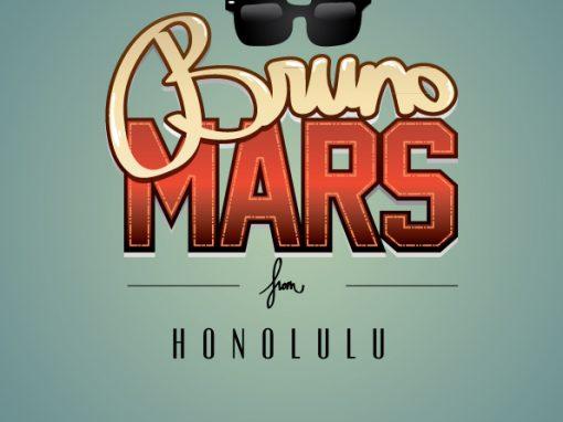 Typographie Bruno Mars
