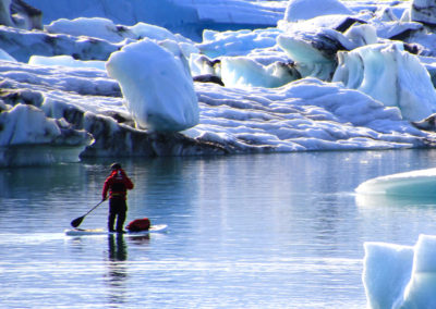 sup paddle en islande