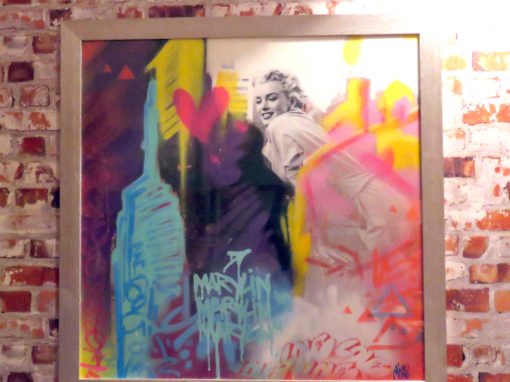 Marylin Monroe – graffiti peinture