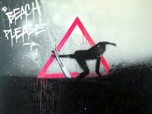 Toile surfer graffiti