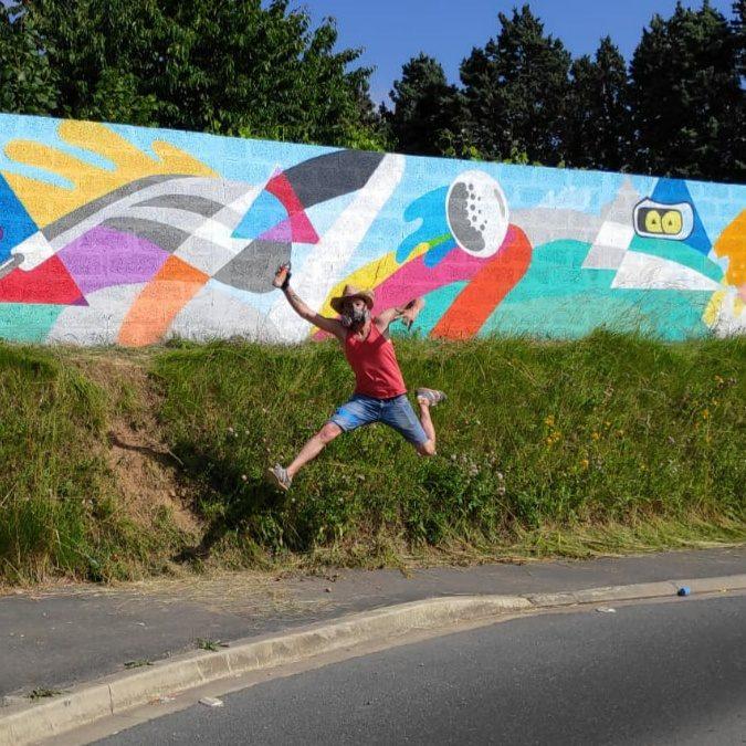 Graffiti Bieville-Beuville Golf
