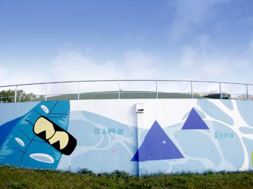 Graffiti reservoir chateau d'eau Colombelles